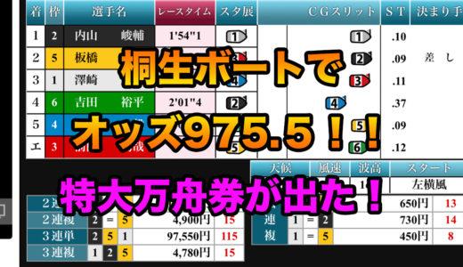 3連単9万円!!内山峻輔選手がオッズ975.5を演出!!!歴代最大のオッズについて。【大儲け】【超高配当】